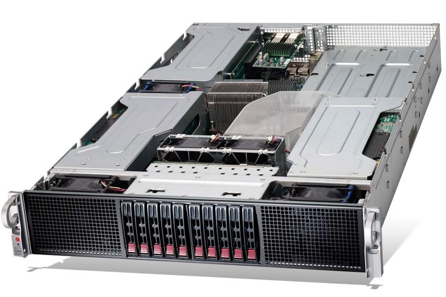 Supermicro 2U 10 Bays up to 4 GPU Dual Processor SuperServer